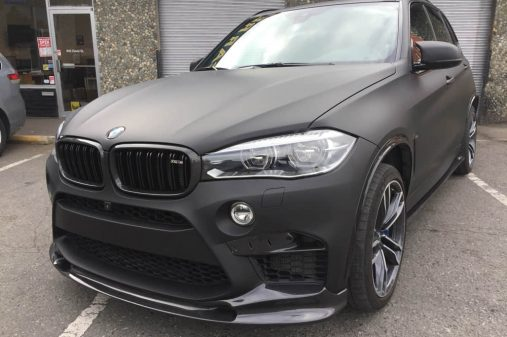 BMW X5M shown in Matte Black wrap